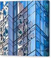 Sky Blue Glass Canvas Print