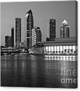 Skyline Of Tampa Along Waterfront Canvas Print