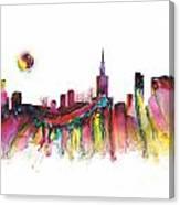 Skyline Warsaw Canvas Print