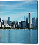 Skylines At The Waterfront, Lake Canvas Print