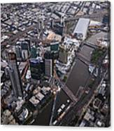Skyskrapers At Federation Square Canvas Print