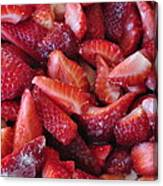 Sliced Strawberries Canvas Print