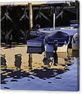 Small Boats And Dock In Port Clyde Maine Canvas Print