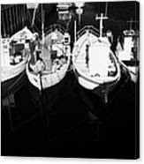 small fishing boats in bunbeg harbour county Donegal Republic of Ireland Canvas Print