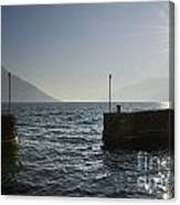 Small Port In Backlight Canvas Print