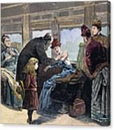 Smallpox Vaccination, 1885 Canvas Print