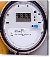 Smart Grid Residential Digital Power Supply Meter Canvas Print