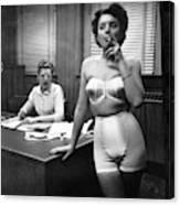 e6d462e4620 Smoking Lingerie Model Photograph by Underwood Archives