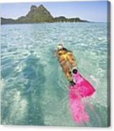 Snorkeling In Polynesia Canvas Print