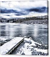 Snow Big Ditch Lake Canvas Print