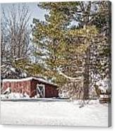 Snow In The Country Canvas Print