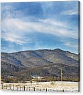 Snowy High Peak Mountain Canvas Print