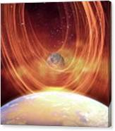 Solar Flare Hitting Earth Canvas Print
