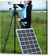 Solar Radiation Monitoring Canvas Print