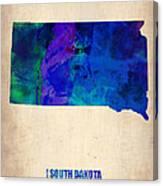 South Carolina Watercolor Map Canvas Print