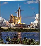 Space Shuttle Atlantis Launch Canvas Print