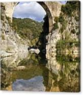 Spain. Gerona. Garrotxa. Bridge Canvas Print