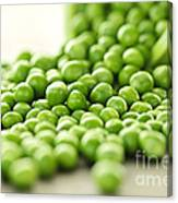 Spilled Bowl Of Green Peas Canvas Print