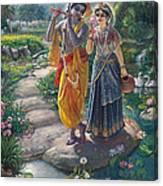 Sri Radha Krishna Canvas Print