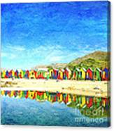 St James Beach Huts South Africa Canvas Print