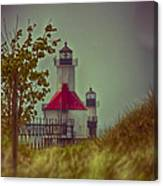 St. Joseph North Pier Lighthouse Lake Michigan. Canvas Print