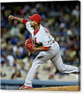 St Louis Cardinals V Los Angeles Dodgers Canvas Print