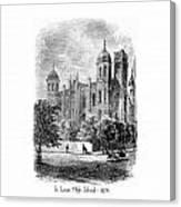 St. Louis High School - 1874 Canvas Print