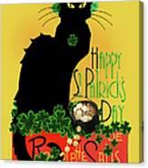St Patrick's Day - Le Chat Noir Canvas Print