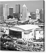St. Pete Times Forum And Tampa Skyline Canvas Print