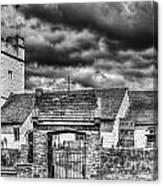 St Sannans Church Bedwellty Mono Canvas Print