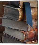 Stack Of Vintage Books Canvas Print