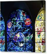 Stained Glass Chagall Windows Canvas Print