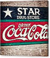 Star Drug Store Wall Sign Canvas Print