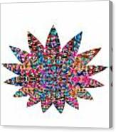 Star Ufo U.f.o. Sprinkled Crystal Stone Graphic Decorations Navinjoshi  Rights Managed Images Graphi Canvas Print