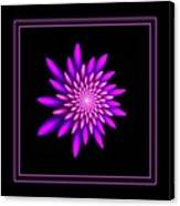 Starburst-32 Framed Black And Pink Canvas Print
