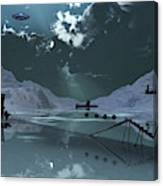Station 211 Alien Nazi Base Located Canvas Print
