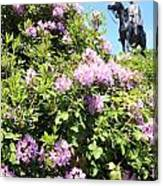 Statue Of 1st Duke Of Wellington At Round Hill Aldershot Canvas Print