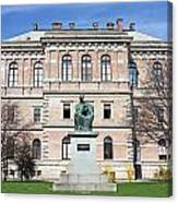 Statue Of Bishop Strossmayer Canvas Print