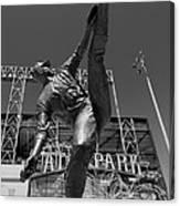 Statue Of Juan Marichal Outside Atandt Park San Francisco Canvas Print