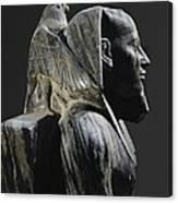 Statue Of Khafre Enthroned. 2520 Bc Canvas Print