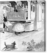 Steam Carriage, 1832 Canvas Print