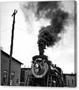 Steam Engine 3254 Black And White Canvas Print
