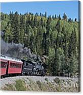 Steam Engine 488 At Osier On The Cumbres And Toltec Scenic Railroad Canvas Print