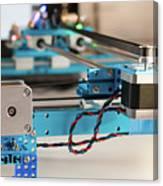 Stepper Motor On Industrial Machine Canvas Print