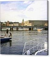 Stockholm City Harbor Canvas Print
