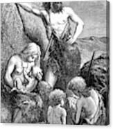Stone Age Family Canvas Print