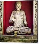 Stone Statue Of Buddha In Bali Indonesia Canvas Print