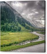 storm clouds over mountains of ladakh Jammu and Kashmir India Canvas Print