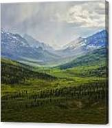 Storm Clouds Over The Klondike Valley Canvas Print