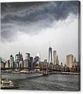 Storm Over Manhattan Downtown Canvas Print